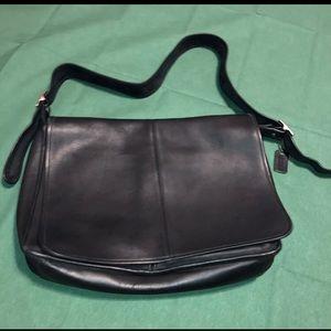 Coach leather satchel messenger bag